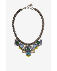 BCBGMAXAZRIA | Blue Geometric Stone Necklace | Lyst