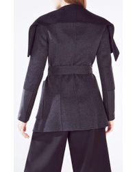 BCBGMAXAZRIA Gray Hunter Open-front Wool Blend Jacket