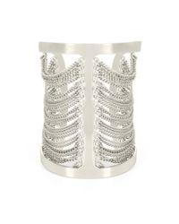 BCBGMAXAZRIA - Metallic Draped Chain Cuff - Lyst