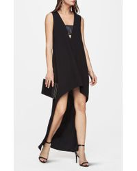 BCBGMAXAZRIA | Black Amaryllis High-low Dress | Lyst