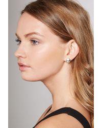 BCBGeneration - Metallic Face Post Earring - Lyst