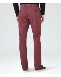 Reiss | Pink Bennett Straight Leg Chinos for Men | Lyst