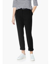 Mango | Black Belt Straight-fit Trousers | Lyst