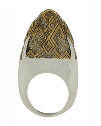 House of Harlow 1960 | Metallic Pave Dome Slice Ring | Lyst