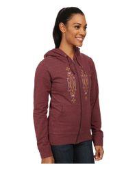 Patagonia | Purple Desert Roots Mid Weight Full-zip Hooded Sweatshirt | Lyst