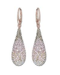 Swarovski | Pink Rose Gold And Crystal Abstract Nude Drop Earrings | Lyst