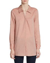 Joie   Natural Ceres Cotton Rolled-sleeve Blouse   Lyst