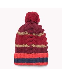 Tommy Hilfiger   Red Wool Blend Hat   Lyst