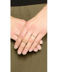 Elizabeth and James Metallic Divi Delgado Ring Set - Gold/White Topaz
