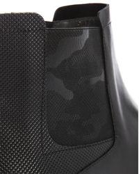HUGO   Black Vincenot Leather Chelsea Boots for Men   Lyst