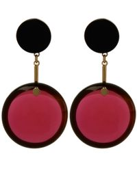 Marni - Purple Red Resin Sphere Earrings - Lyst