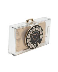 Charlotte Olympia | White Dial Pandora Clutch | Lyst