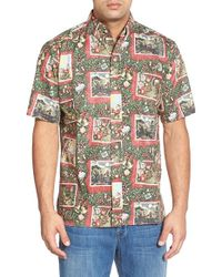 Reyn Spooner | Red 'hawaiian Christmas' Classic Fit Wrinkle Free Sport Shirt for Men | Lyst
