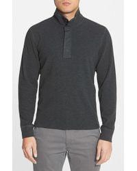 Jack Spade - Gray 'barstow' Half Snap Pullover Sweatshirt for Men - Lyst