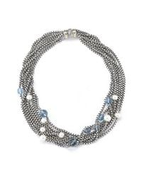 David Yurman | Multicolor Pre-owned 8 Strand Necklace with Pearls and Blue Topaz | Lyst