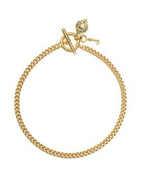 Lauren by Ralph Lauren | Metallic Goldtone Curb Chain Toggle Necklace | Lyst