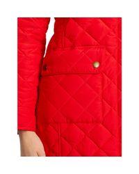 Ralph Lauren | Red Diamond-quilted Full-zip Coat | Lyst