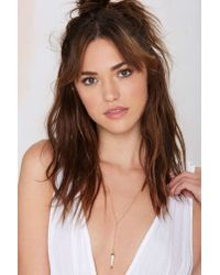 Nasty Gal | Metallic Luv Aj Howl And Dagger Necklace | Lyst