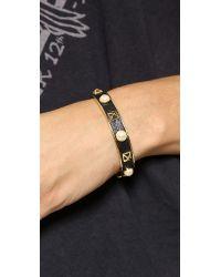 Rebecca Minkoff Metallic Pyramid Stud Cuff Bracelet Goldblack