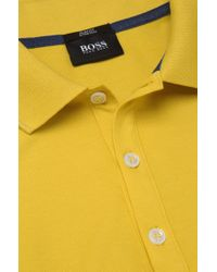 BOSS Yellow Slim-fit Polo Shirt 'forli 15' In Cotton Jersey for men