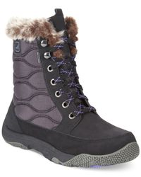 Sperry Top-Sider Black Women'S Winter Cove Faux-Fur Booties
