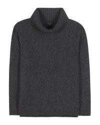 Rag & Bone | Gray Blithe Wool Turtleneck Sweater | Lyst