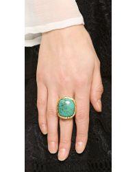 Aurelie Bidermann Metallic Miki Ring With Stone