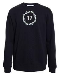 Givenchy - Black Floral Crown Sweatshirt for Men - Lyst