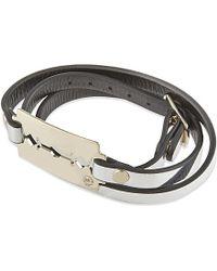 McQ | Gray Razor Leather Bracelet - For Women | Lyst