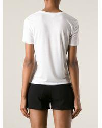 Helmut Lang White Loose Fit T-Shirt