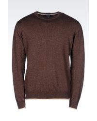 Armani Jeans | Brown Jumper In Cotton Blend for Men | Lyst