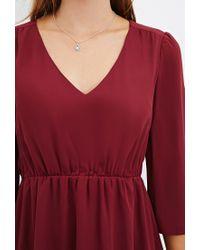 Forever 21 | Purple V-neck Mini Dress | Lyst