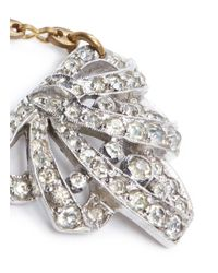 Lulu Frost - Metallic 'art Deco' Crystal Drop Earrings - Lyst