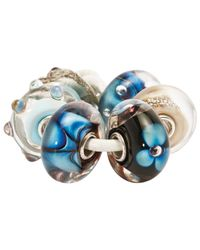 Trollbeads Blue Traces Glass Bead