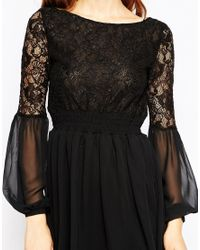 Millie Mackintosh - Black Lace Top Skater Dress - Lyst