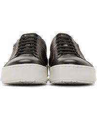 Neil Barrett - Black Snakeskin Sneakers for Men - Lyst