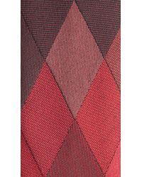 Burberry Brown Diamond Silk Twill Tie for men