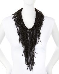 Nakamol - Black Crystal Fringe Statement Necklace - Lyst