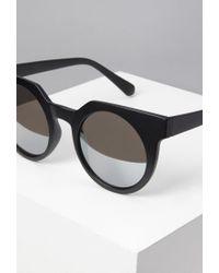 Forever 21 - Black Round Sunglasses - Lyst