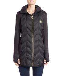 MICHAEL Michael Kors Black Packable Quilted Coat