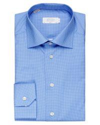 Eton of Sweden - Blue Slim Fit Dot Shirt for Men - Lyst