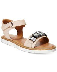 Clarks | Natural Artisan Women's Lydie Joelle Flat Sandals | Lyst