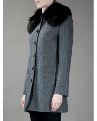 Dolce & Gabbana Black Structured Coat