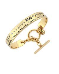 BCBGeneration | Metallic Etched Goldtone Cuff Bracelet | Lyst
