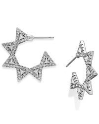 House of Harlow 1960 | Metallic Pavé Geodesic Triangle Mini Hoop Earrings | Lyst