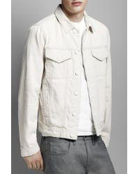 J Brand White Trucker Jacket for men