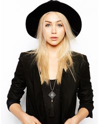ASOS | Black Limited Edition Filigree Tassel Necklace | Lyst