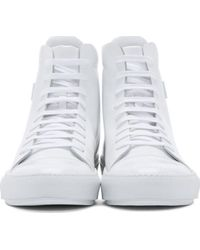 Acne Studios | White Leather Adrian High_top Sneakers for Men | Lyst