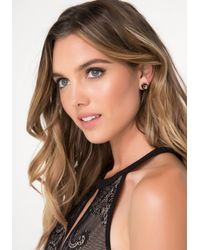 Bebe - Multicolor Crystal Stud Earring Set - Lyst