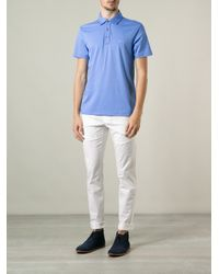 Michael Kors Blue Classic Polo Shirt for men